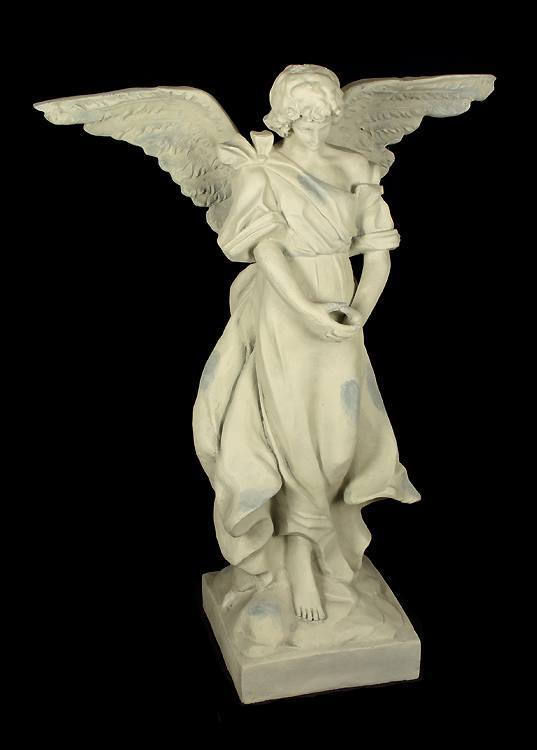 garten figur engel stehend gro 118 cm antik look. Black Bedroom Furniture Sets. Home Design Ideas
