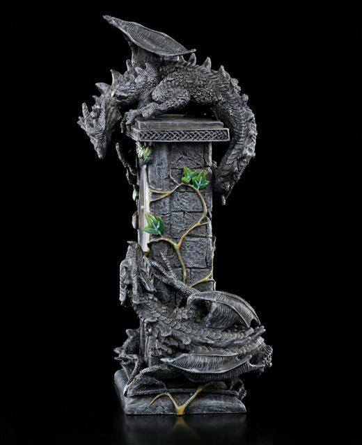 tisch uhr k mpfende drachen dragon clock fantasy deko einrichtung ebay. Black Bedroom Furniture Sets. Home Design Ideas