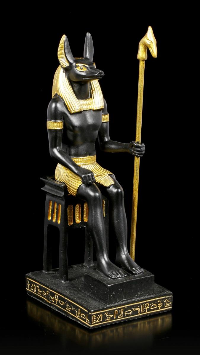 Anubis Waagschalen Schwert Ägypten Poly Figur 25 cm Egypt bronziert