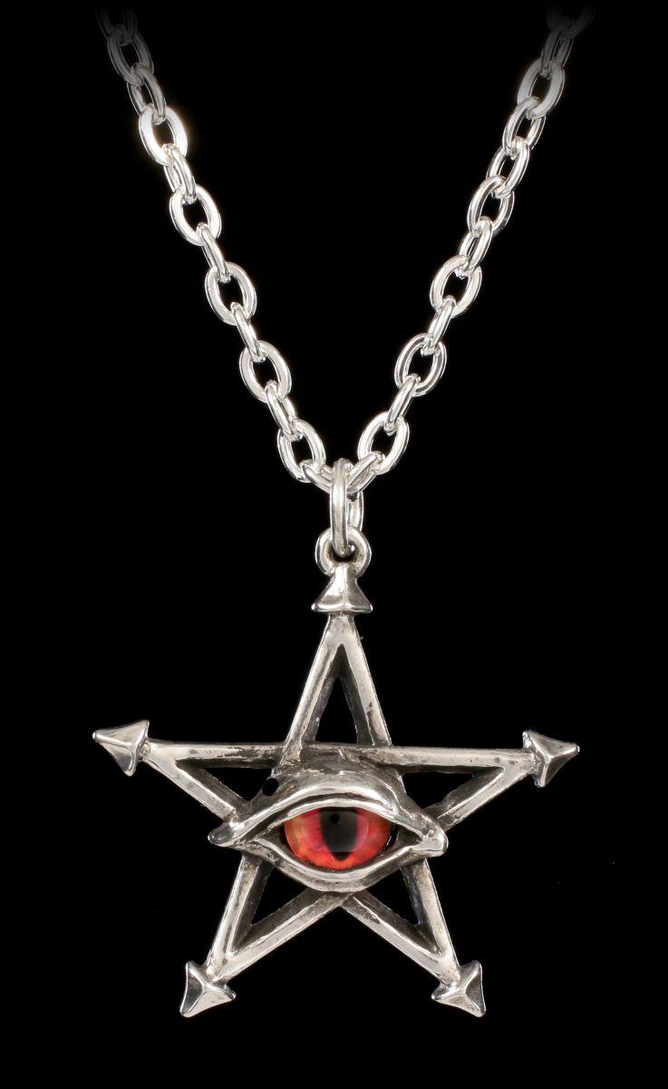 Gothic Stern Anhänger Kette Magie Tethered Hex Alchemy Pentagramm Halskette