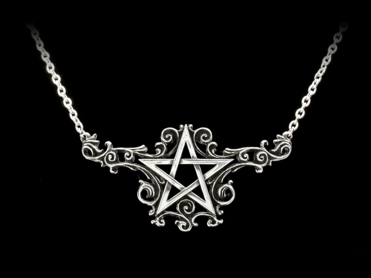 Talismanik Fantasy Magie Kette Anhänger Stern Alchemy Pentagramm Halskette