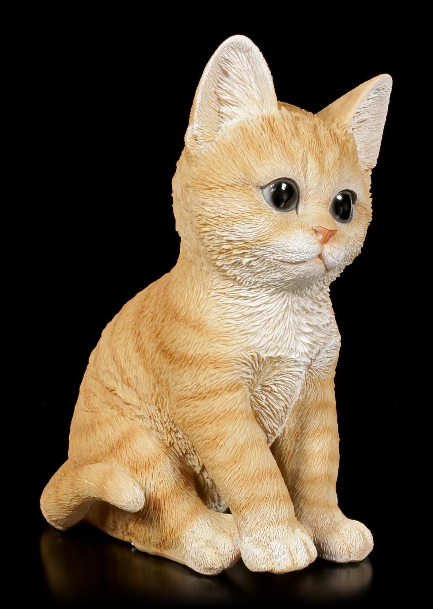 baby katzen figur orange tabby sitzend niedliches k tzchen deko geschenk ebay. Black Bedroom Furniture Sets. Home Design Ideas