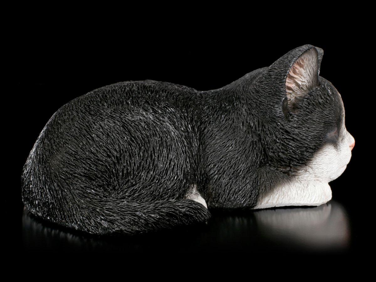 baby katzen figur schlafend schwarz wei niedlich k tzchen deko geschenk ebay. Black Bedroom Furniture Sets. Home Design Ideas