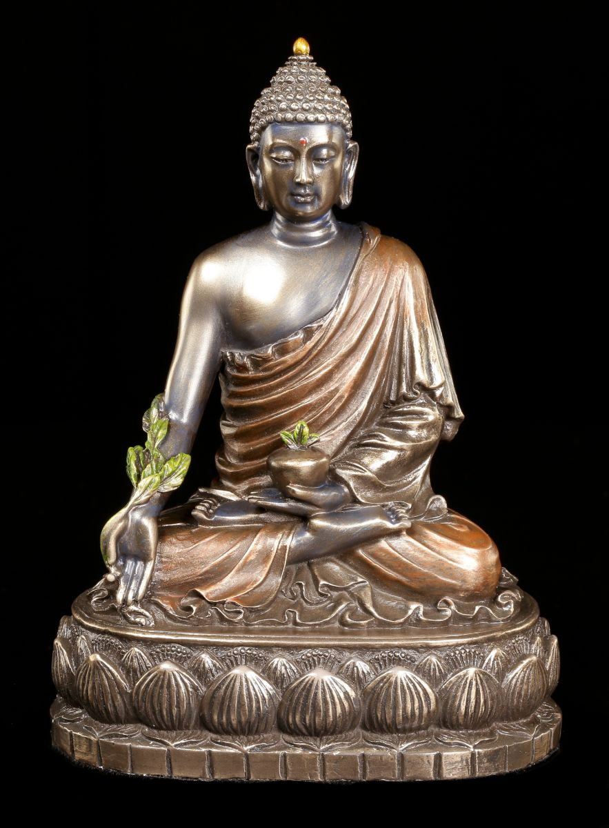 Buddha figur bhaisajyaguru auf lotusthron veronese for Figur buddha