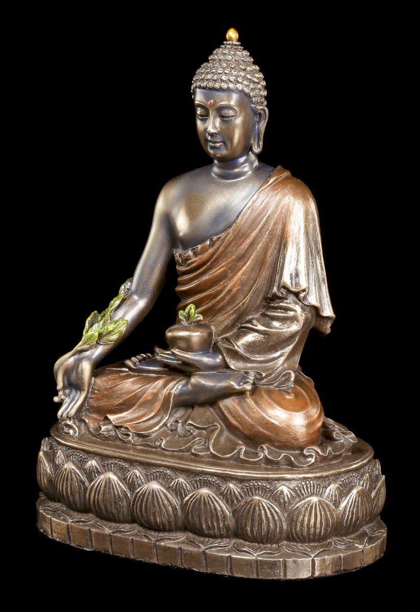 Buddha figur bhaisajyaguru auf lotusthron veronese for Buddha figur