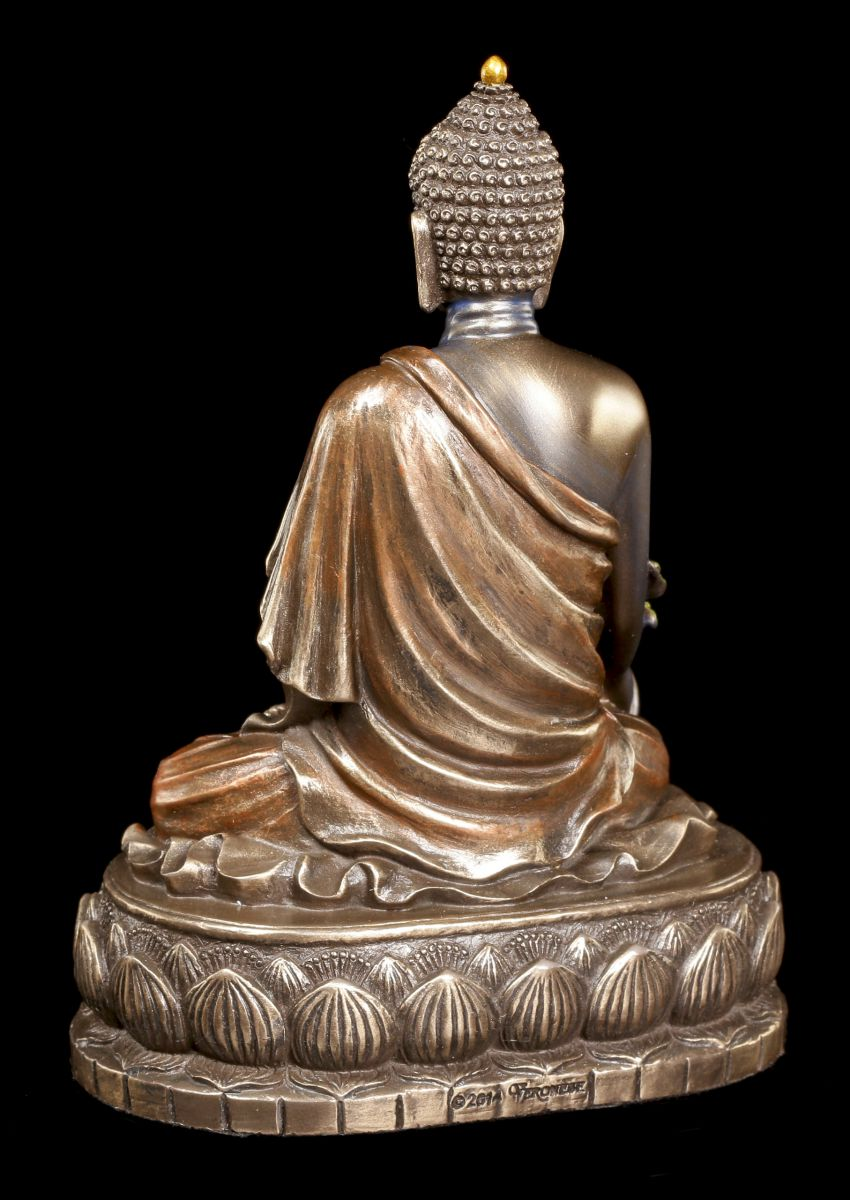 buddha figur bhaisajyaguru auf lotusthron veronese gott indisch deko statue ebay. Black Bedroom Furniture Sets. Home Design Ideas
