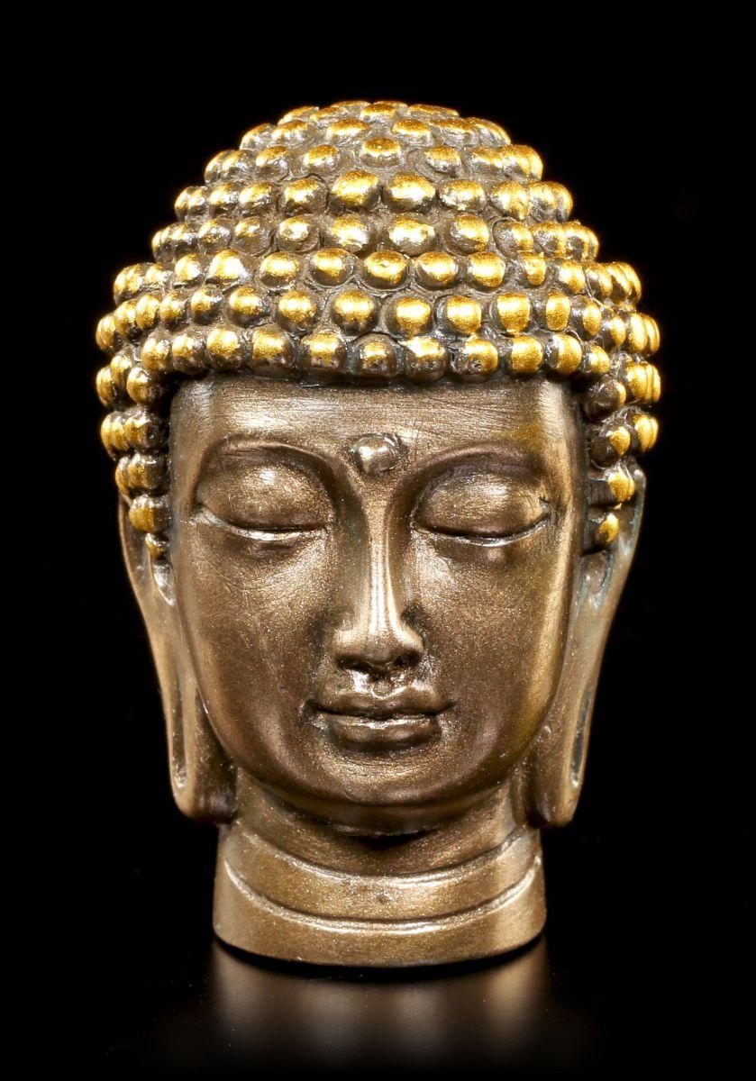 buddha head small figurine feng shui deco ebay. Black Bedroom Furniture Sets. Home Design Ideas