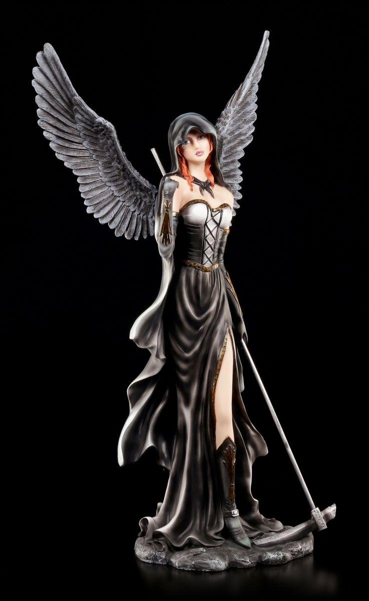 dark angel figur scythia mit sense gothic engel. Black Bedroom Furniture Sets. Home Design Ideas