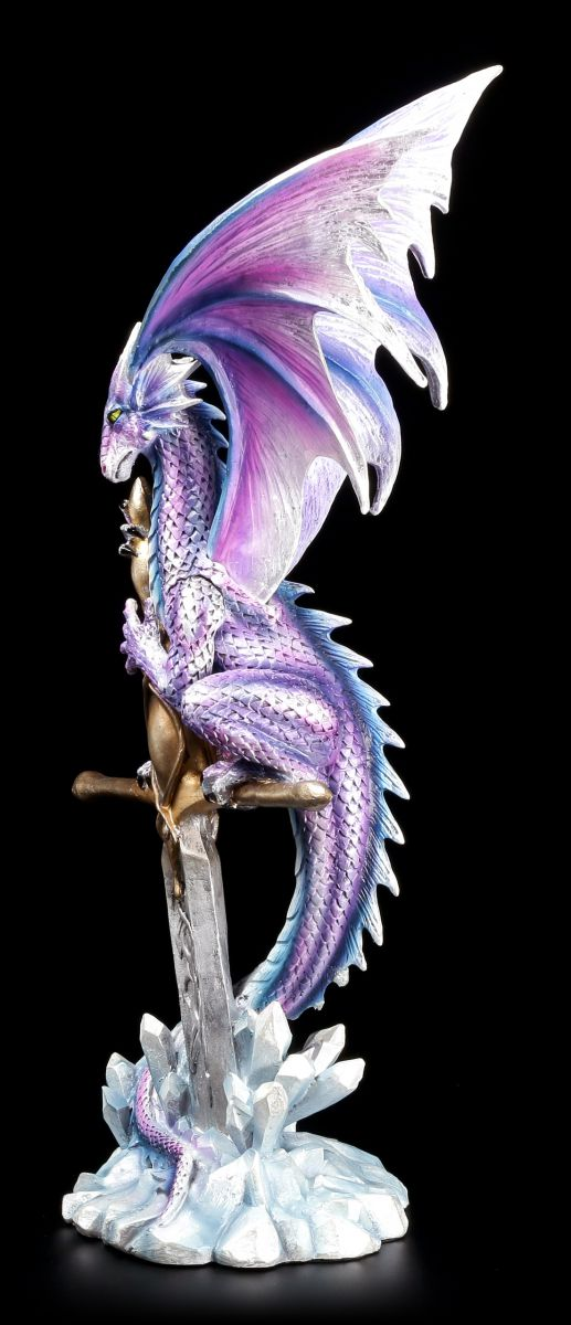drachen figur mit excalibur w chter der alten welt fantasy dragon gothic ebay. Black Bedroom Furniture Sets. Home Design Ideas