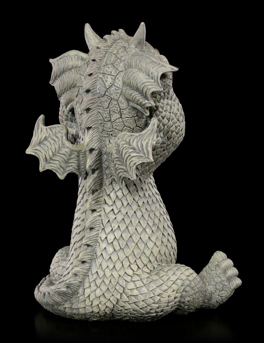Drachen Gartenfigur Ups Niedliche Fantasy Statue Deko
