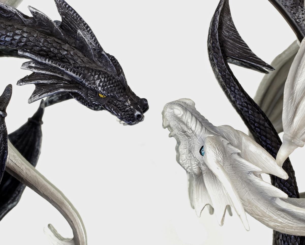 specchio muro yin e yang draghi gotico dragon