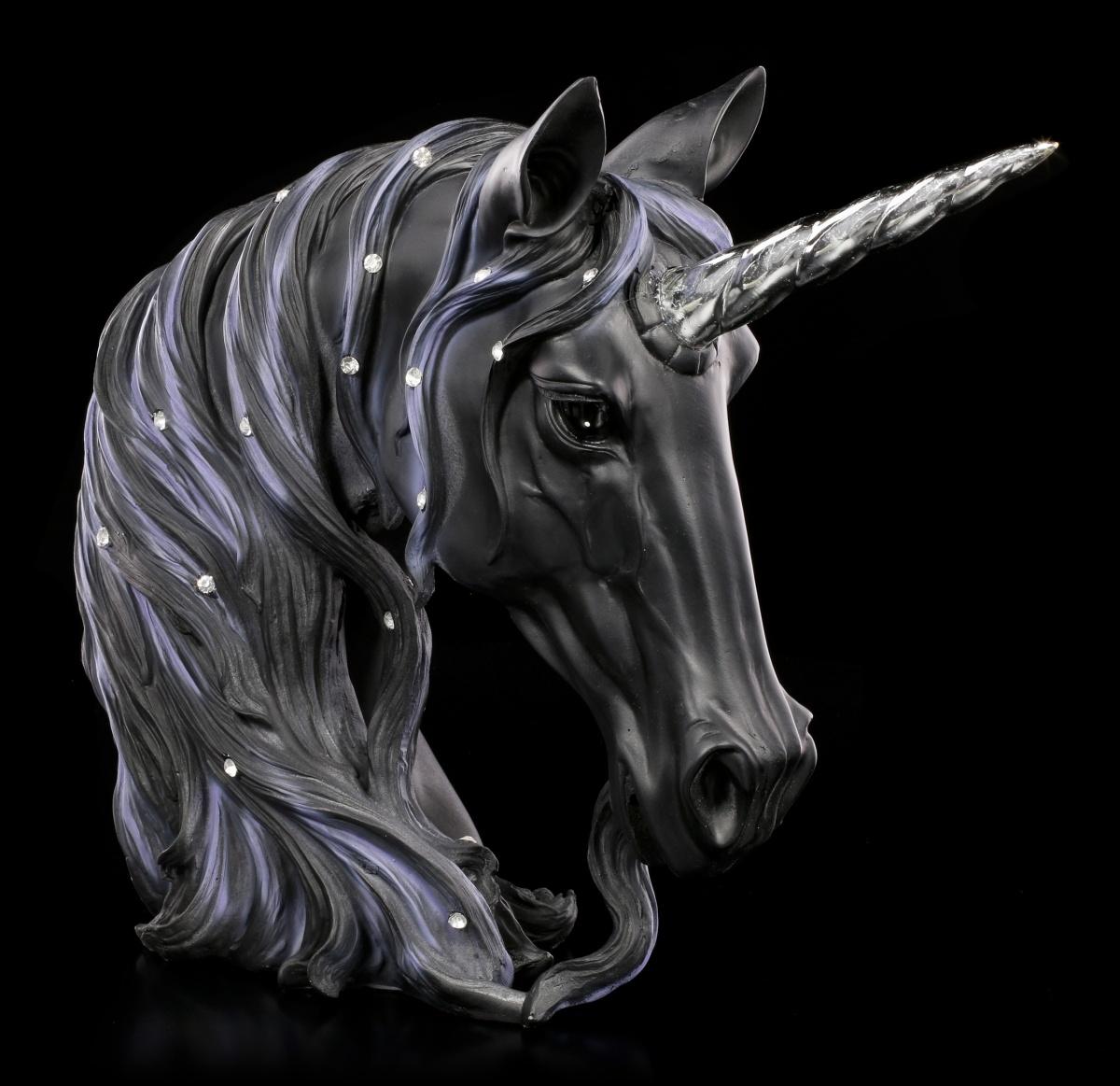 einhorn figur b ste midnight gro schwarz deko fantasy magie pferd ebay. Black Bedroom Furniture Sets. Home Design Ideas