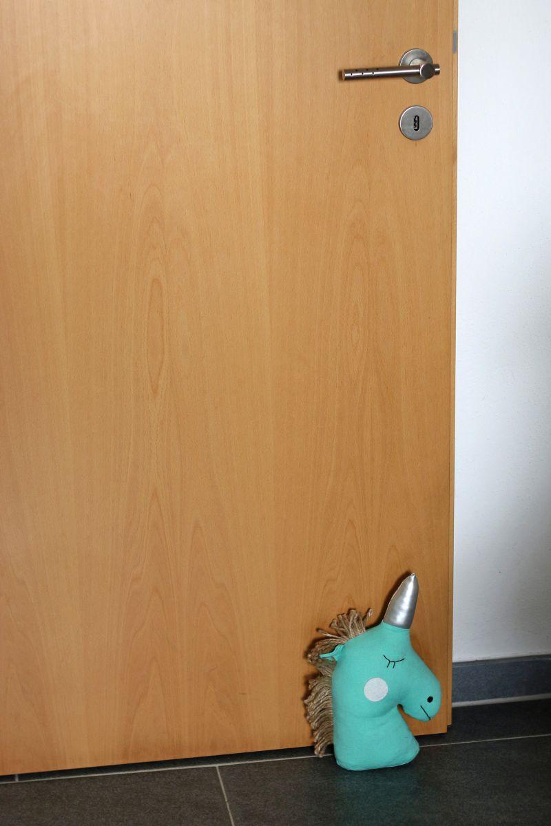 Einhorn t rstopper t rkis kopf figur pferd kinderzimmer for Zimmer deko einhorn