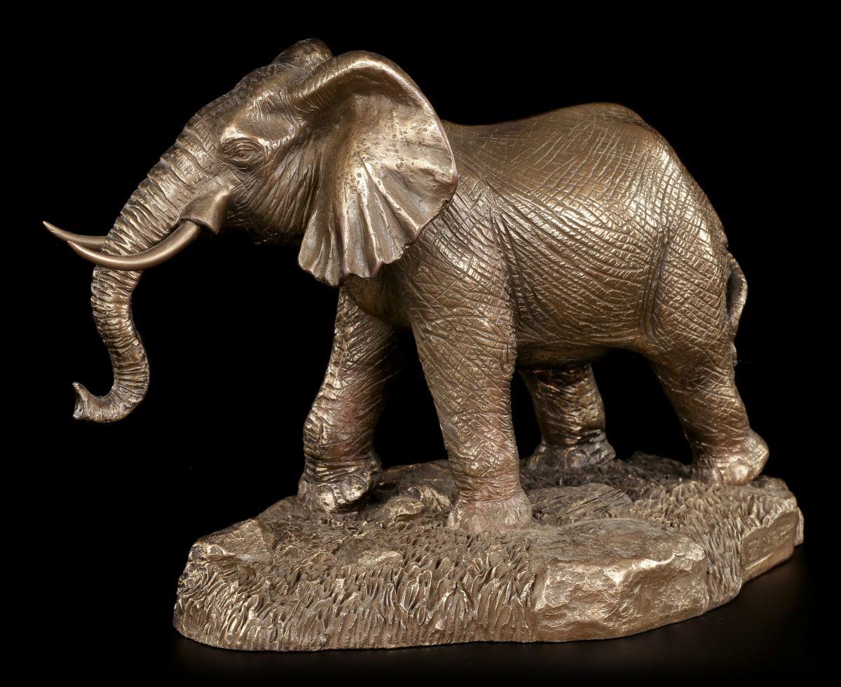 elefanten figur laufend deko statue bronziert sammelfigur beauchamp ebay. Black Bedroom Furniture Sets. Home Design Ideas