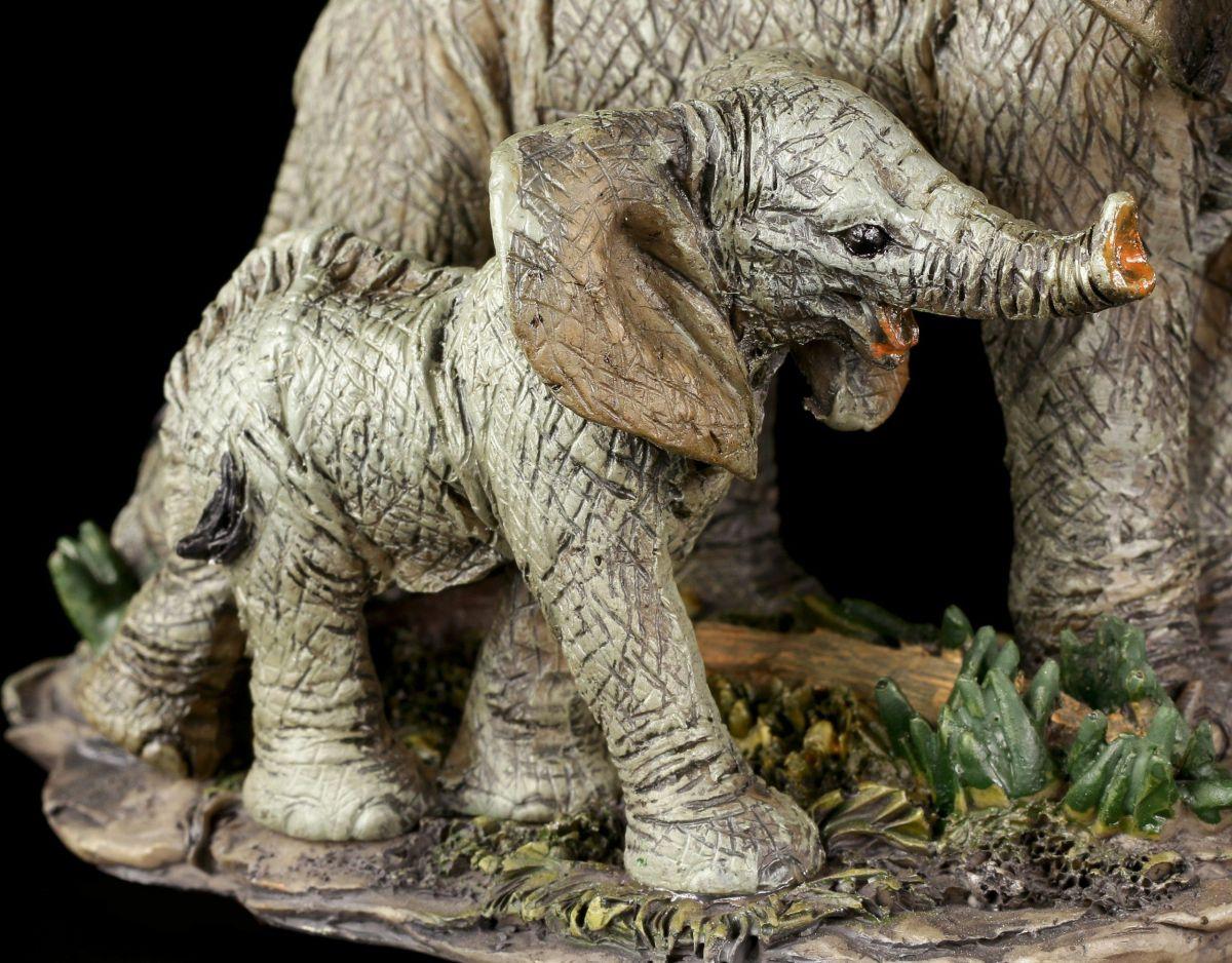 elefanten familie figur mama und kind deko elefantenfigur ebay. Black Bedroom Furniture Sets. Home Design Ideas