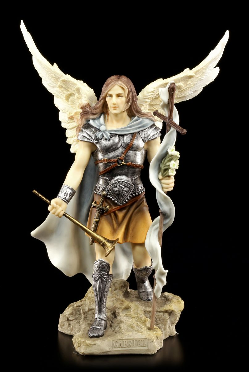 Hand Painted Archangel On Stone