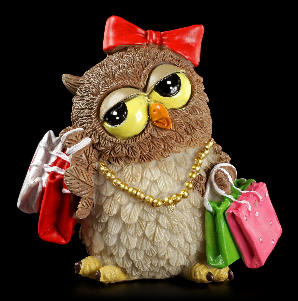 Lustige Eulen Figur Shopping Queen Witziges Geschenk Spass Deko