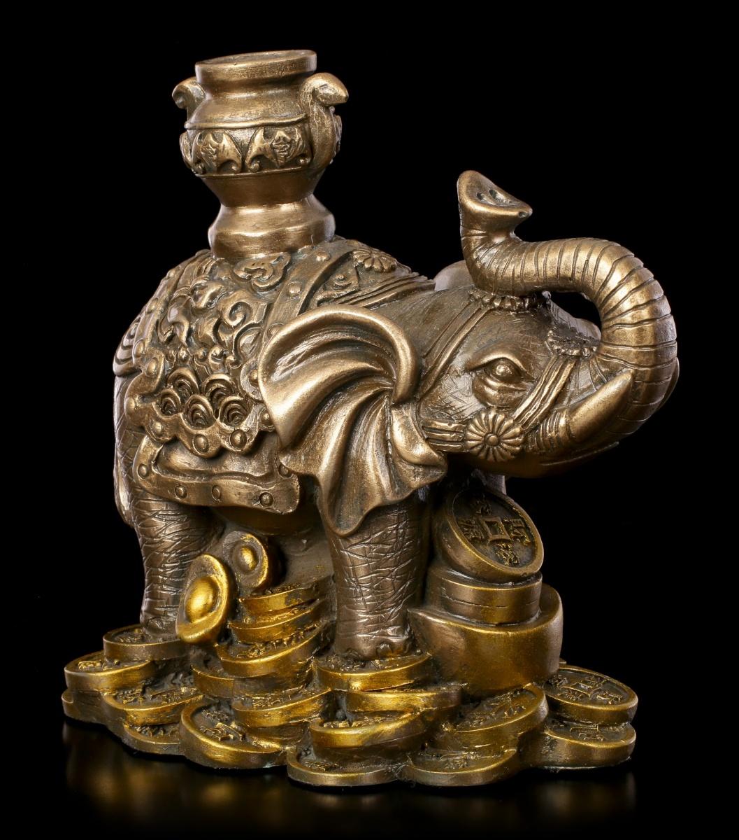 Feng Shui Figuren : feng shui figur elefant mit goldst cken gl ck reichtum statue deko ebay ~ Yuntae.com Dekorationen Ideen