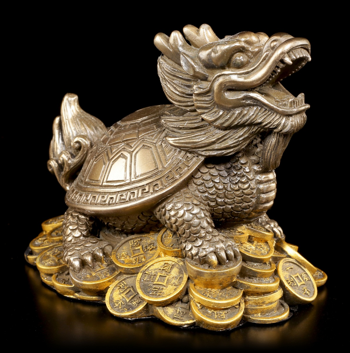 feng shui figurine dragons tortue argent porte bonheur cadeau bouddha ebay. Black Bedroom Furniture Sets. Home Design Ideas