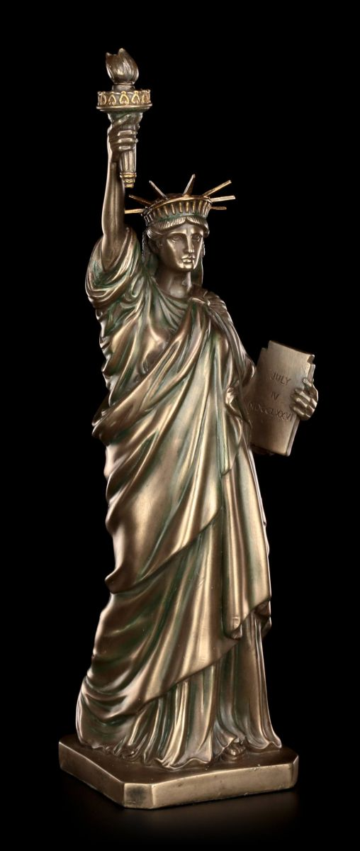 freiheitsstatue figur statue of liberty bronziert usa. Black Bedroom Furniture Sets. Home Design Ideas