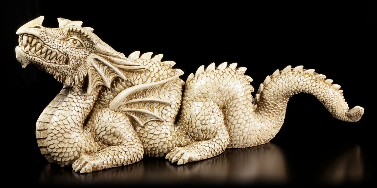 Figurine de jardin - Dragon Chinois - FANTASIE Figure Décoration de ...
