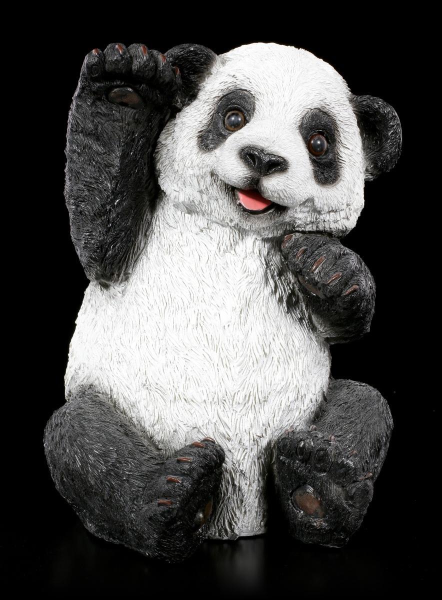 Figur  Pandabär mit Kind  Garten Tiere  Dekoration