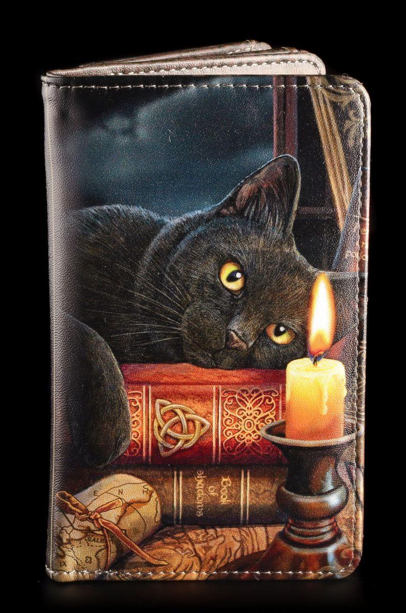 Geldbörse mit schwarzer Katze The Witching Hour Fantasy Geldbeutel Hexe