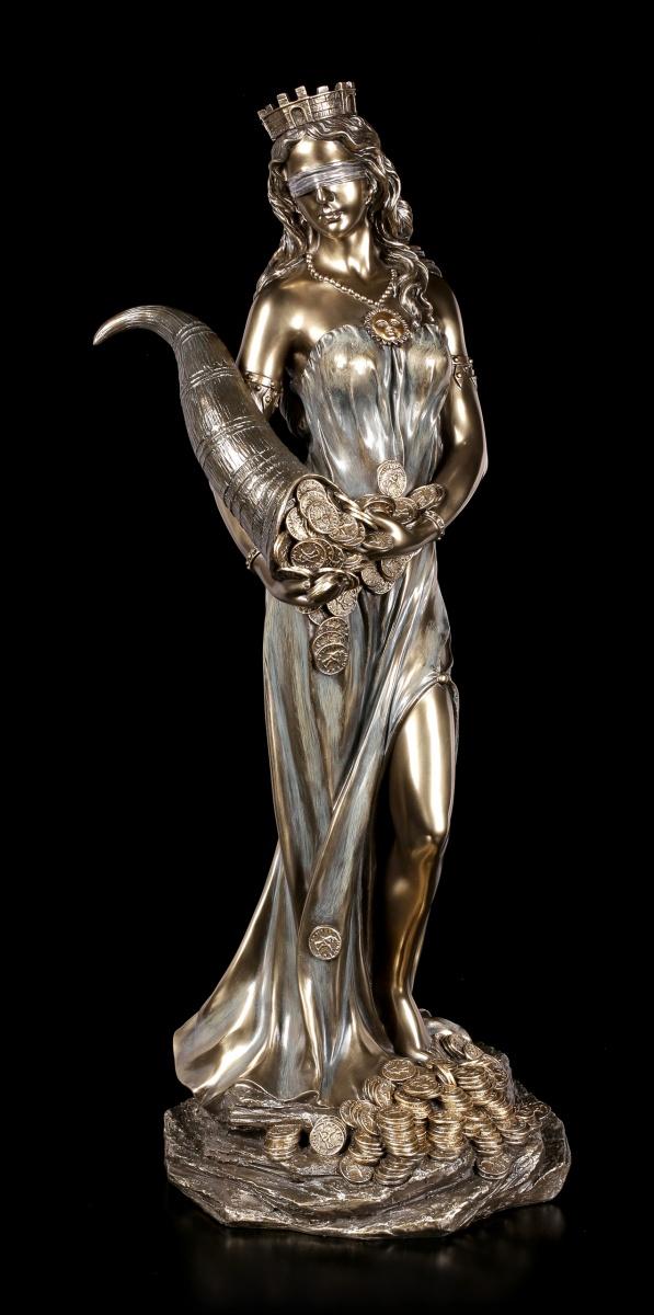 Göttin Fortuna für Geldsegen Skulptur Veronese Frauenfigur Mythologie Dekofigur
