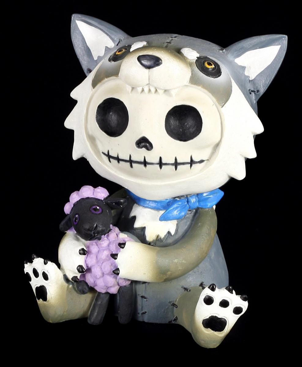gro e furry bones figur wolfgang fun lustig wolf skelett ebay. Black Bedroom Furniture Sets. Home Design Ideas