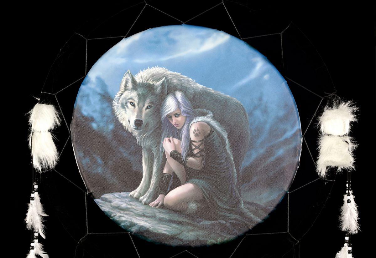 gro er traumf nger mit wolf protector anne stokes deko fantasy. Black Bedroom Furniture Sets. Home Design Ideas