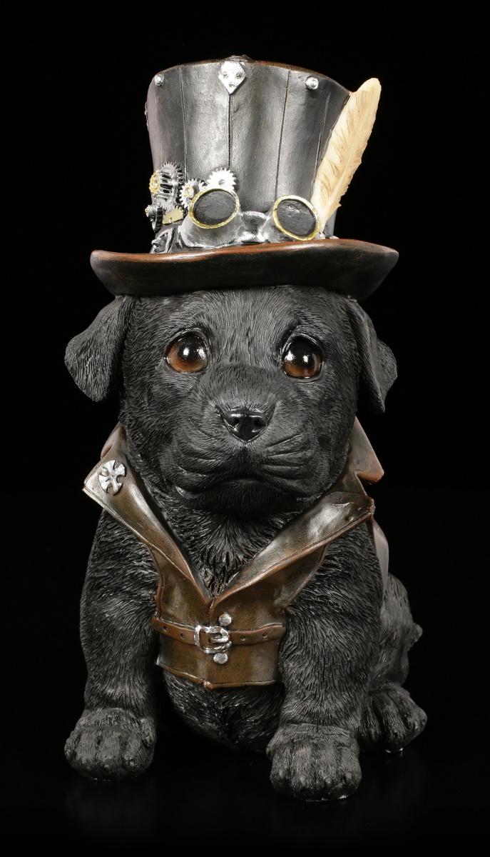 Deko Figur Junger Hund Welpe auf einem Kissen aus Gusseisen 5682