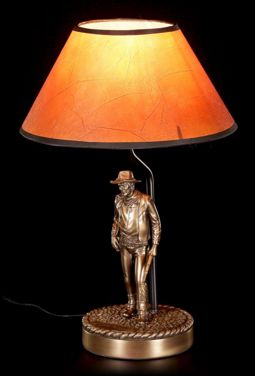 john wayne figure as table lamp cowboy western wil andersen deco ebay. Black Bedroom Furniture Sets. Home Design Ideas