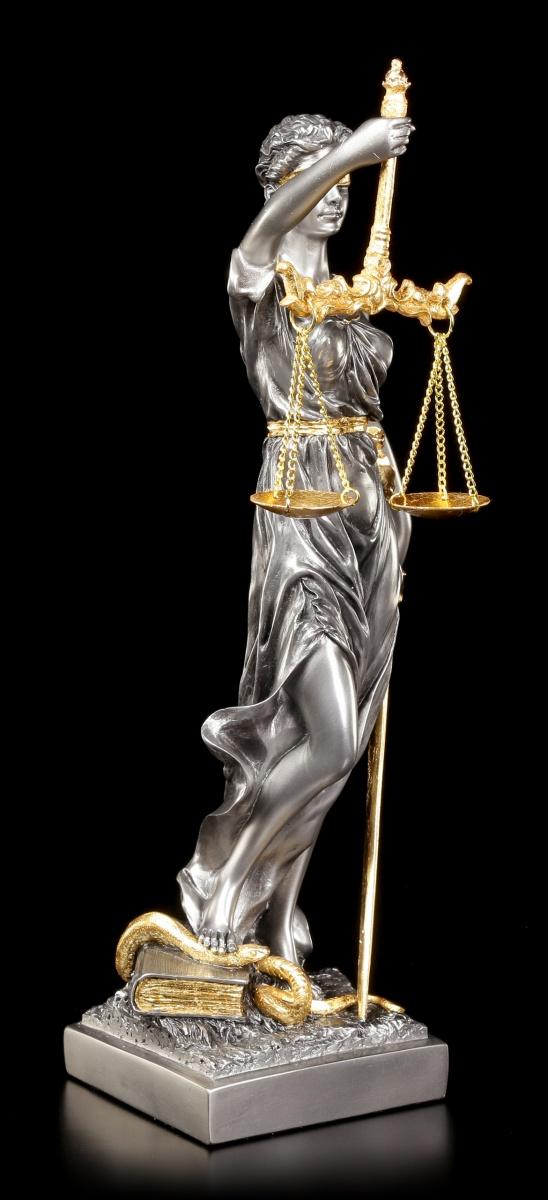 justitia figur geschenk anwalt veronese rechtsanwalt blattgold modern edel ebay. Black Bedroom Furniture Sets. Home Design Ideas