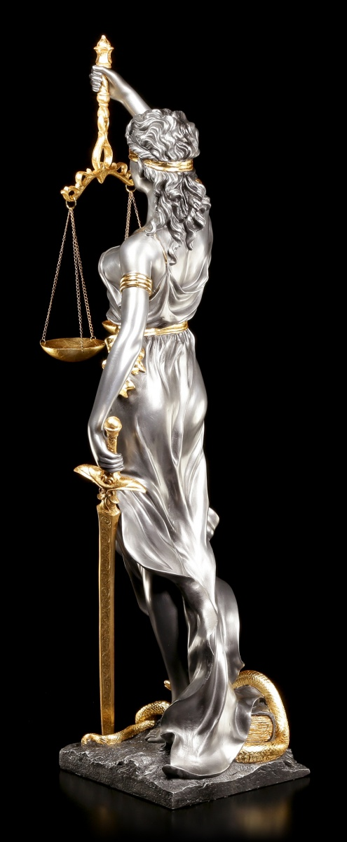 gro e justitia figur statue geschenk anwalt rechtsanwalt blattgold edel modern 4015249129401. Black Bedroom Furniture Sets. Home Design Ideas