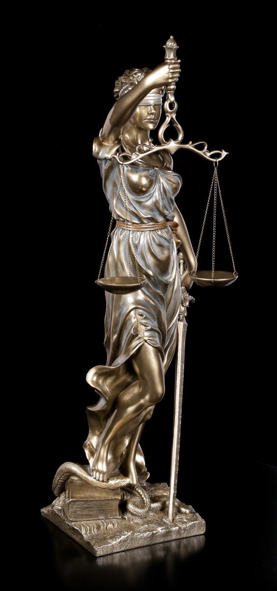 Kleine Justitia Figur mit Waage und Schwert Veronese Geschenk Anwalt Statue