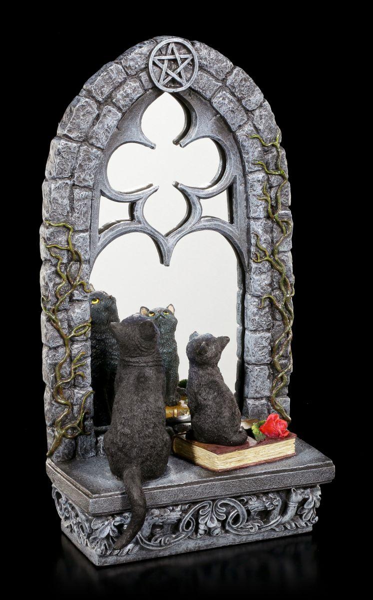 katzen figur mit spiegel familiar reflection veronese schwarze k tzchen deko ebay. Black Bedroom Furniture Sets. Home Design Ideas
