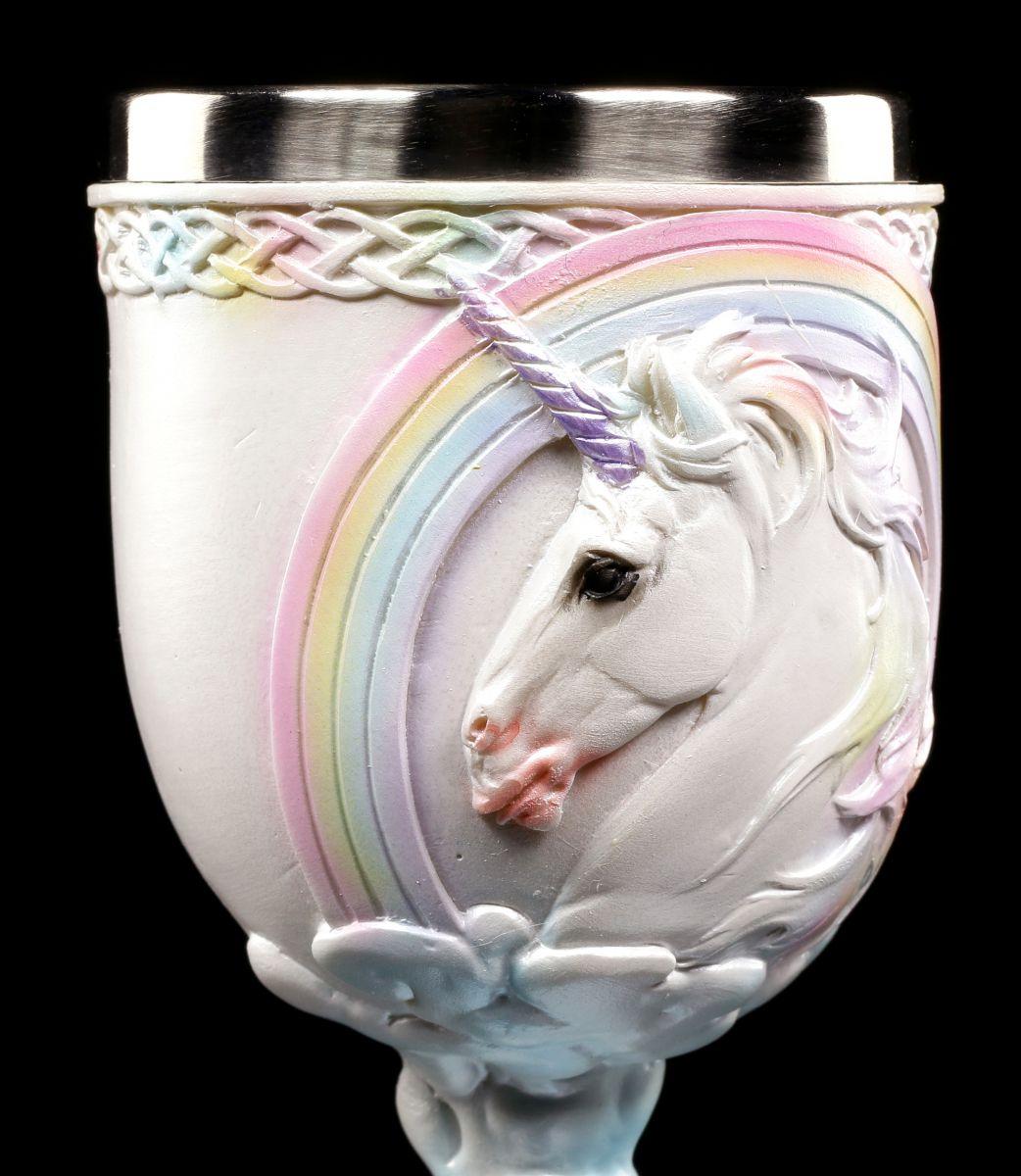 Unicorno Calice Pegasus Arcobaleno Decorazione Fantasy