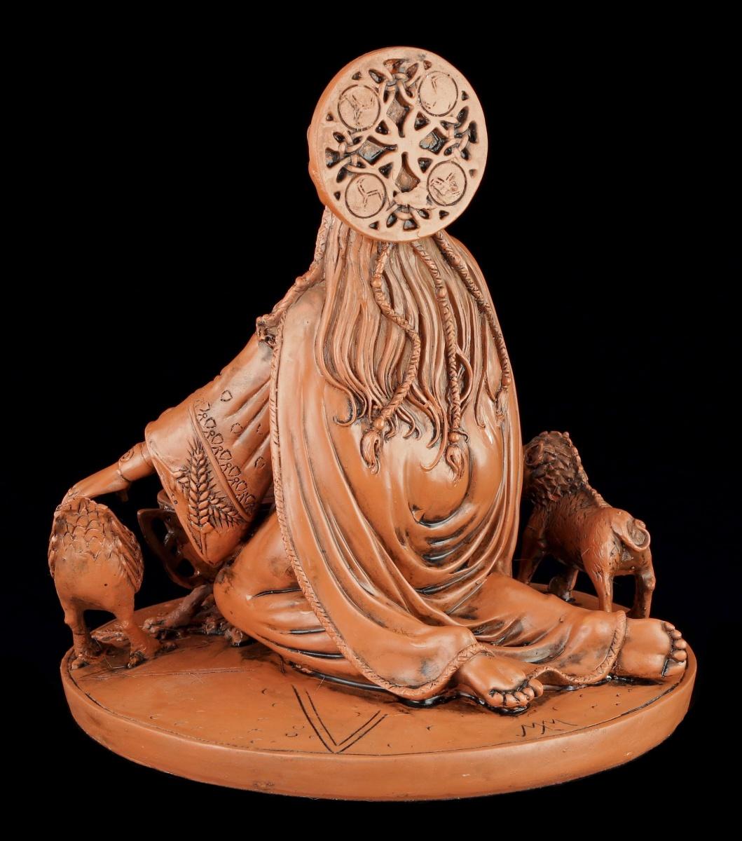 Keltische Göttin der Fruchtbarkeit Cerridwen Figur Wicca Statue Altarfigur