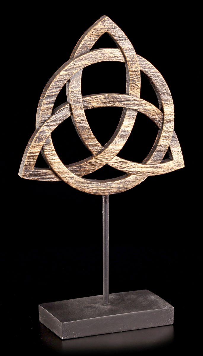 altar deko keltischer knoten triquetra figur. Black Bedroom Furniture Sets. Home Design Ideas