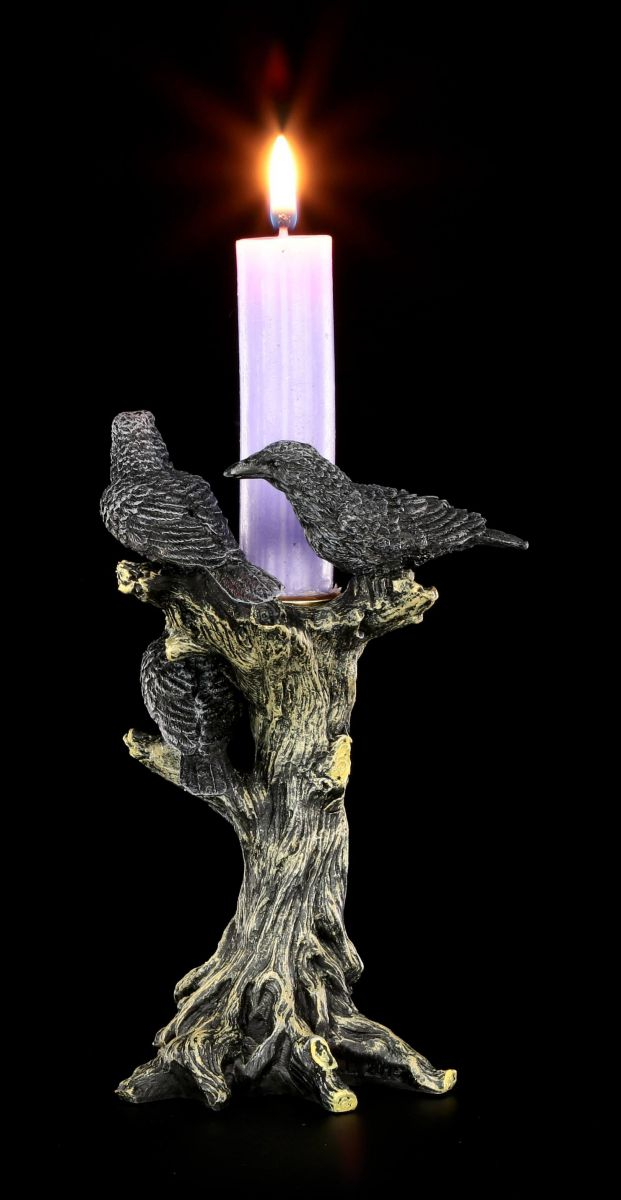 Candle Holder Ravens End Crow Gothic Fantasy