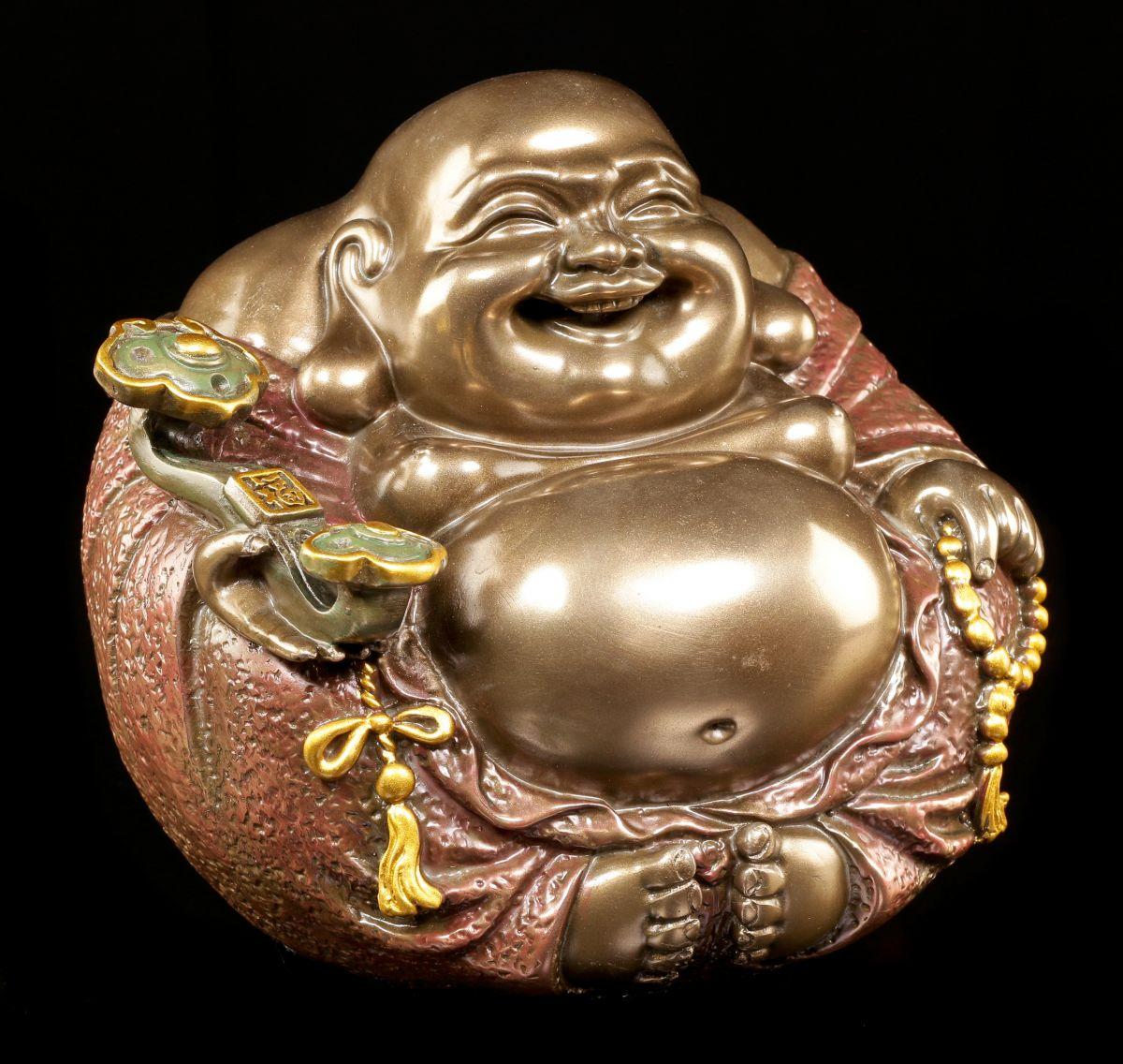 maitreya buddha figure present laughing thick belly ebay. Black Bedroom Furniture Sets. Home Design Ideas