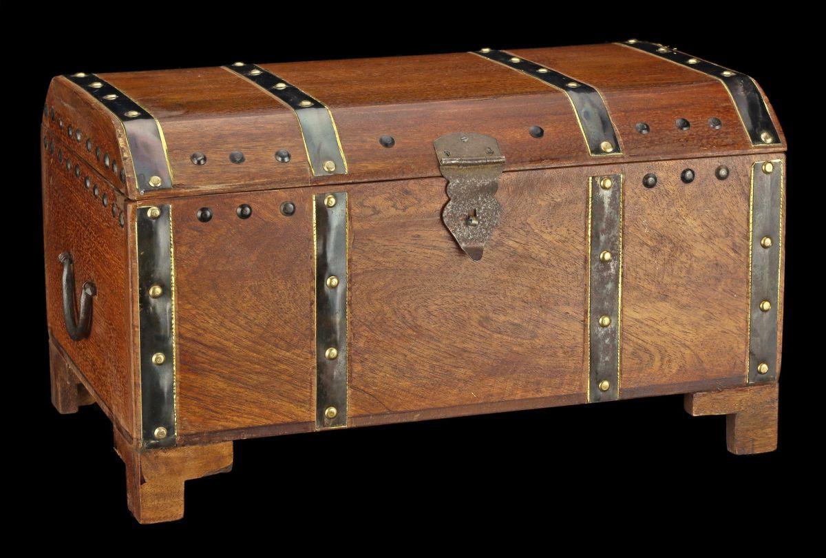 mittelalterliche holz truhe piraten schatztruhe mit f en schatz kiste ebay. Black Bedroom Furniture Sets. Home Design Ideas