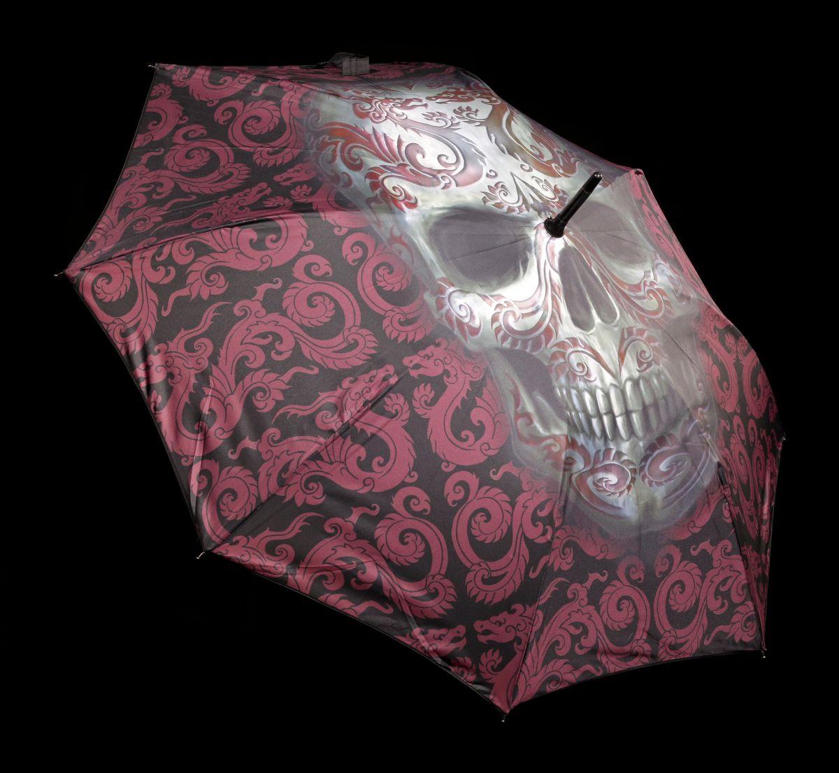 Tete de mort parapluie-Oriental skull by Anne stokes-Gothique Fantasy parapluie