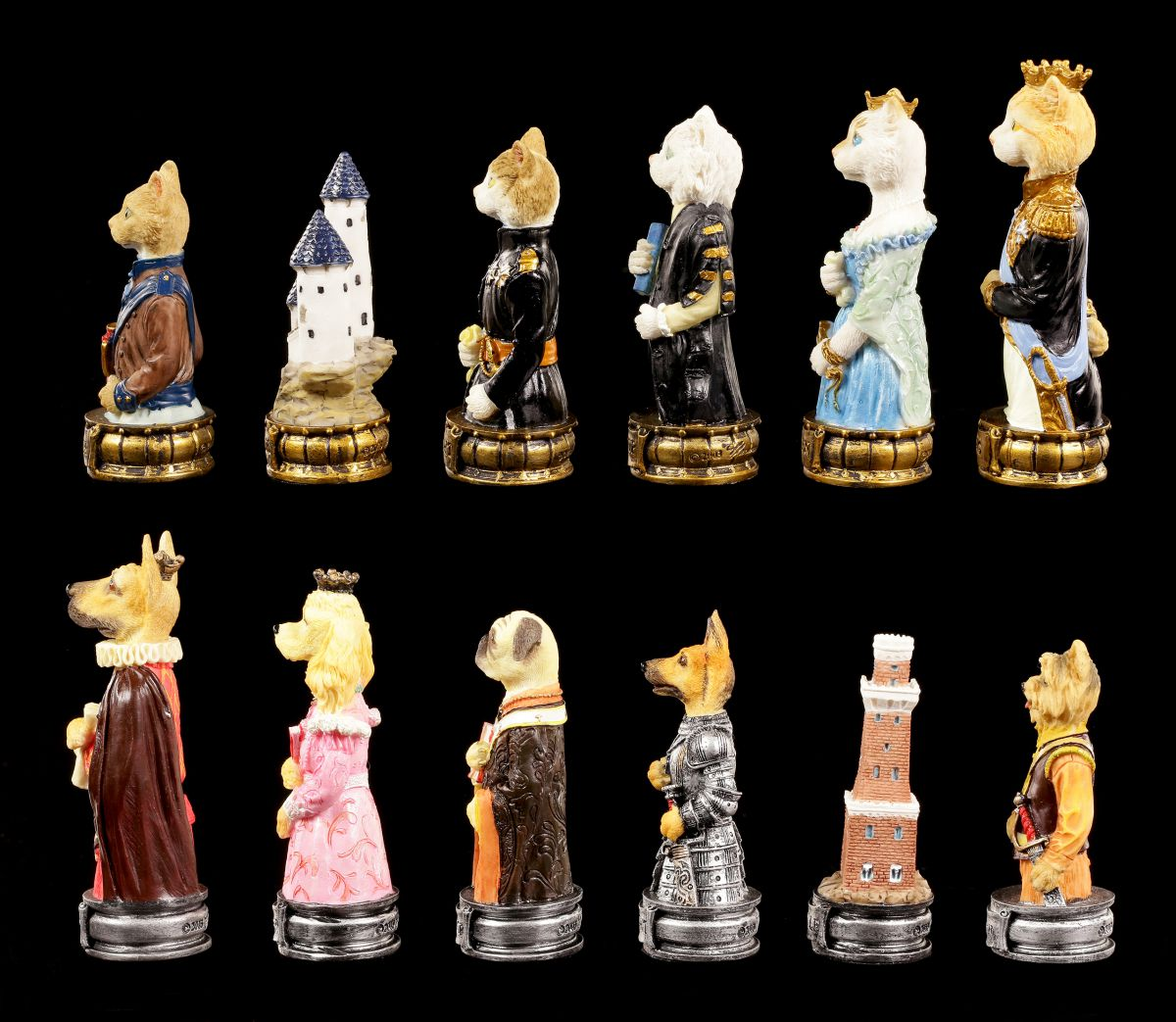 Cats Vs Dogs Chess Set