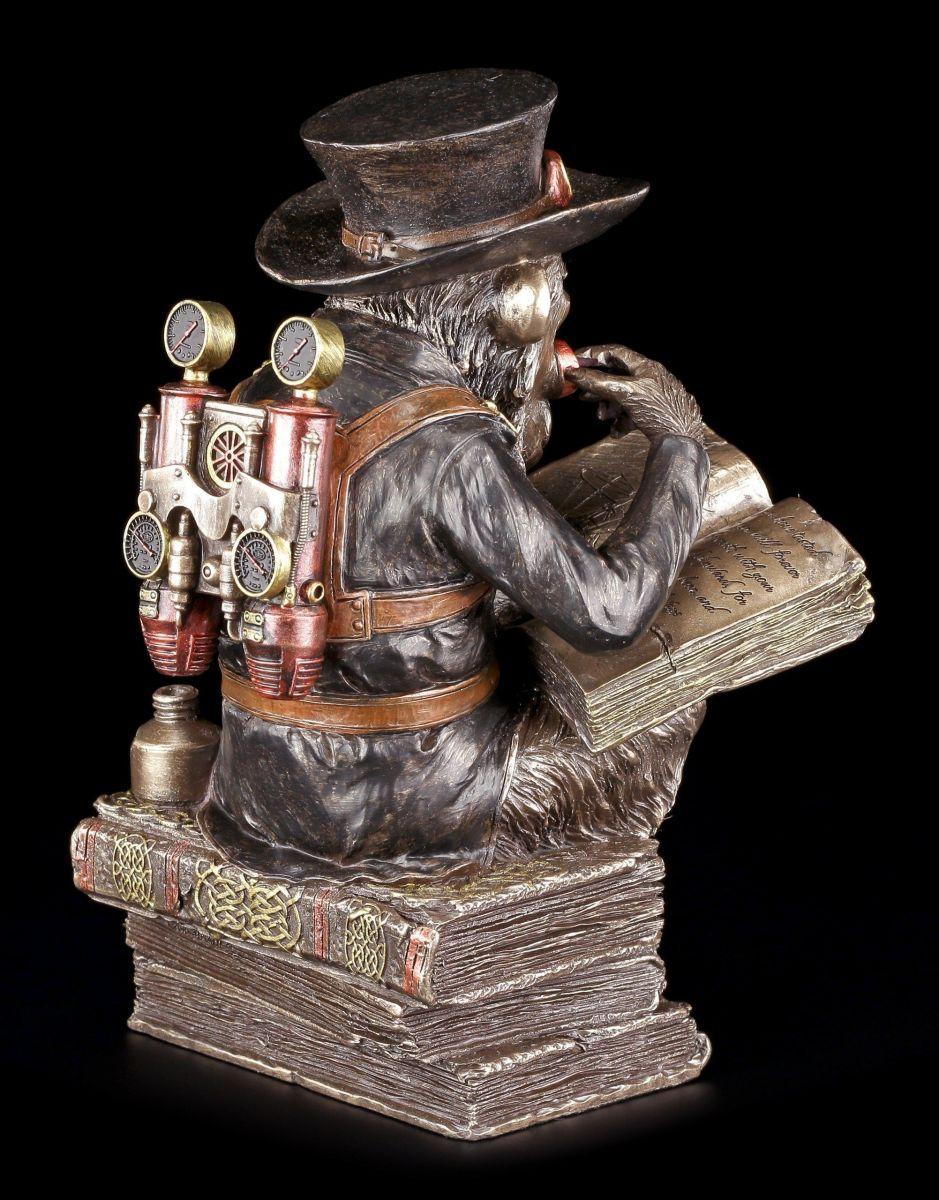steampunk schimpansen figur der gelehrte veronese fantasy gothic deko 801269105006 ebay. Black Bedroom Furniture Sets. Home Design Ideas