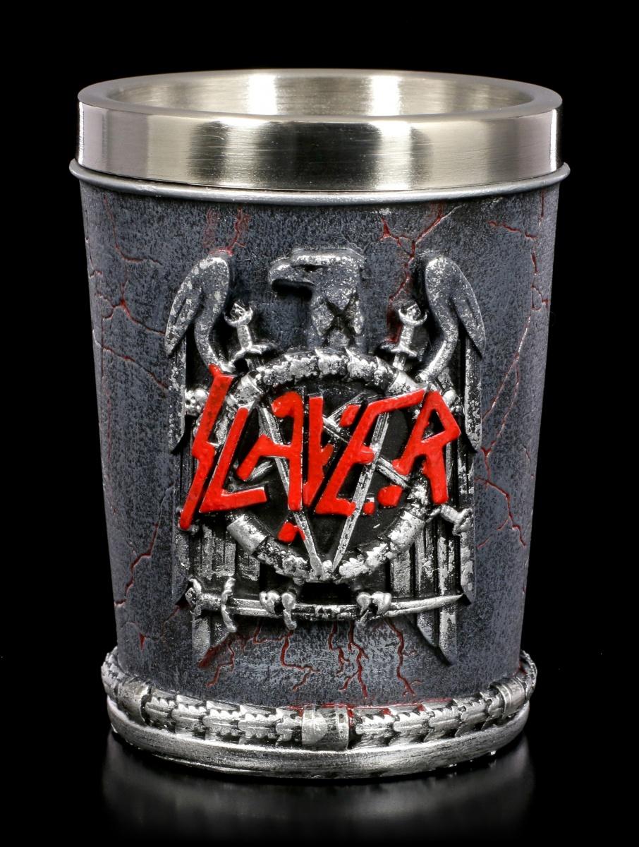 Eagle Emblem Slayer Schnapsbecher Heavy Metal Band Fan Geschenk Schnapsglas
