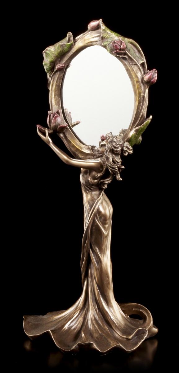 art nouveau miroir femme garde fleur miroir de table veronese art nouveau ebay. Black Bedroom Furniture Sets. Home Design Ideas