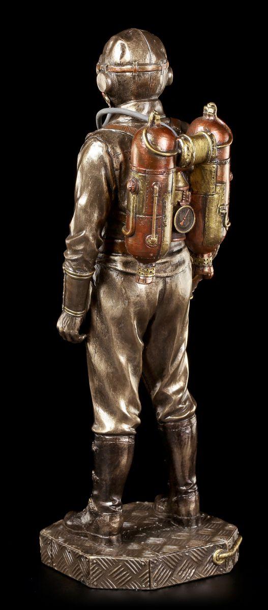 steampunk figur soldat mit gasmaske veronese fantasy deko gothic ebay. Black Bedroom Furniture Sets. Home Design Ideas