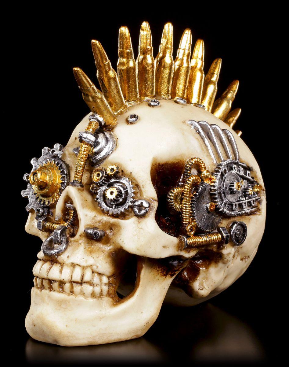 steampunk totenkopf gears of war klein deko figur sch del skull ebay. Black Bedroom Furniture Sets. Home Design Ideas