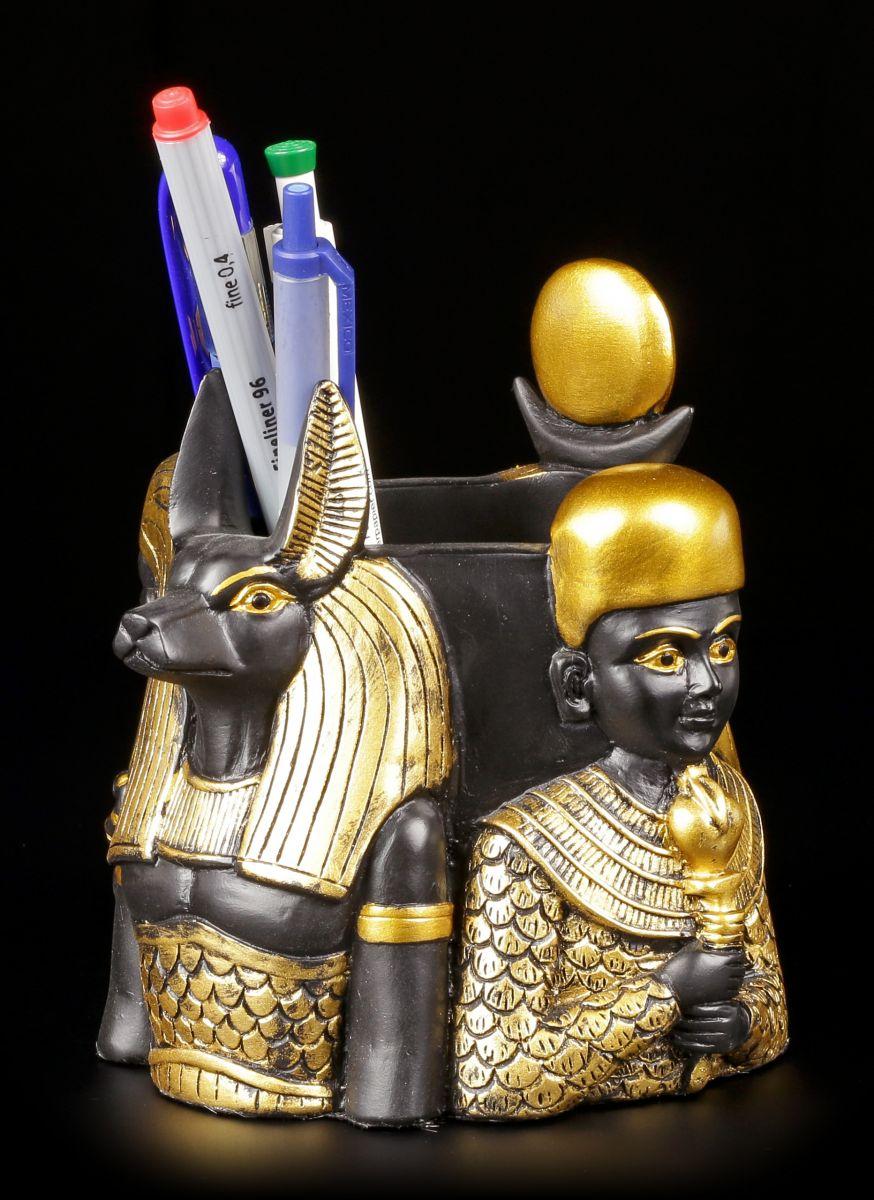 Fantasy Stiftebecher Büro Schreibtisch Stiftehalter Ägyptische Gottheiten